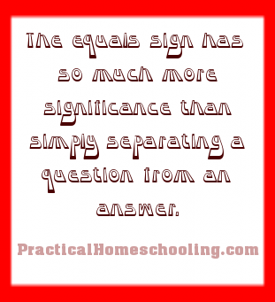 The Equal Sign Symbol Name Meaning Practical Homeschooling