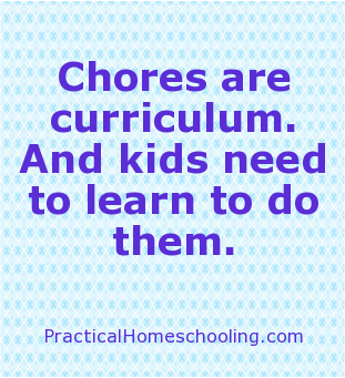 article chores She'd never seen kids doing chores, let alone kids in charge of cleaning a   portions of this article were excerpted from free range learning.