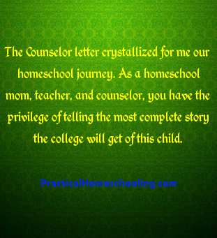 The Counselor Letter Practical Homeschooling Magazine