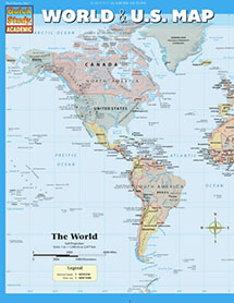 World and U.S. Map