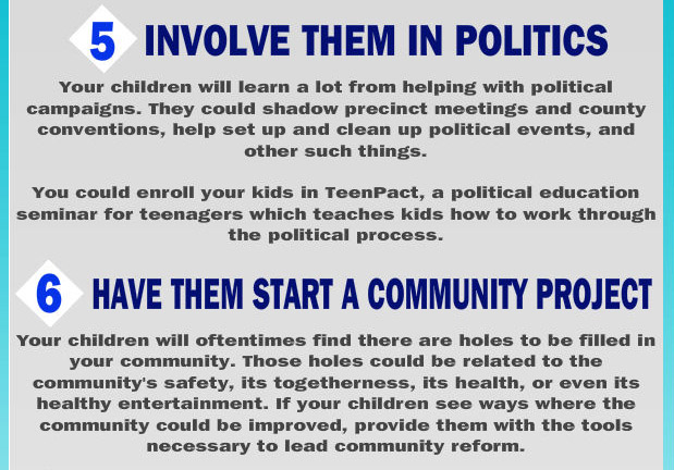 Get involved in politics and start a community project