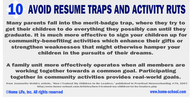 Don't just pack the resume, choose your activities carefully