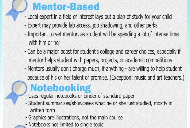 Mentor-based homeschooling and notebooking
