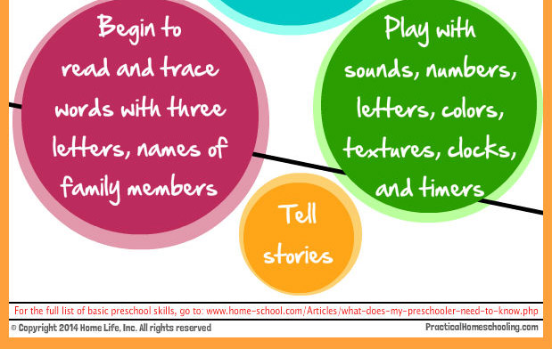 Learn to read simple words, play at learning, tell stories