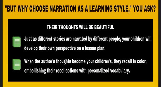 Why choose narration: Children make lesson material their own