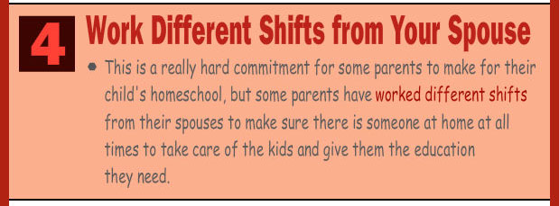 Work a different shift from your spouse