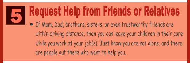 Ask help from friends and relatives