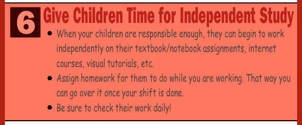 Teach your children to study independently