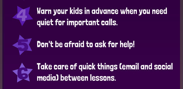 Warn about important calls; ask for help; work between lessons