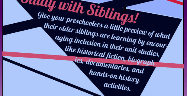 Have your preschooler share the history his older siblings are learning